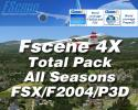 FScene 4X Total Pack (All Seasons) for FSX/FS2004/Prepar3D