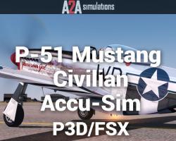 P-51 Mustang Civilian Accu-Sim for P3D/FSX