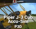 Piper J-3 Cub Accu-Sim for P3D