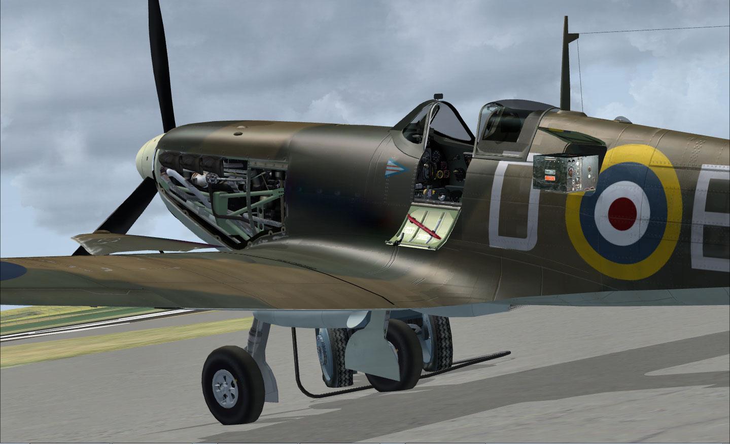 spitfire mk v legends of flight for fsx by just flight