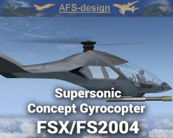 Supersonic Concept Gyrocopter for FSX/FS2004