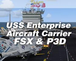 USS Enterprise Aircraft Carrier for FSX/Prepar3D