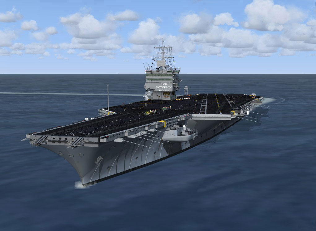 USS Enterprise Aircraft Carrier for FSX/Prepar3D by Team SDB
