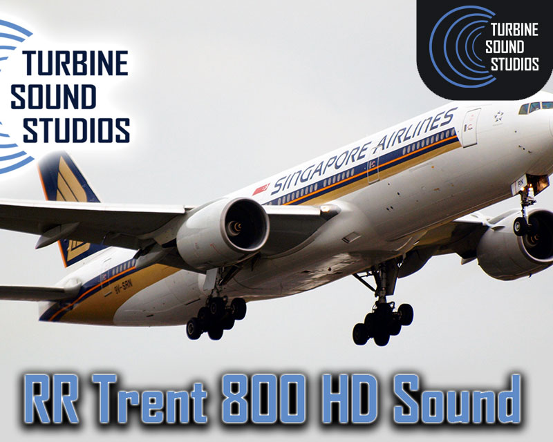 Boeing 777 RR Trent-800 HD Sound Pack for FSX/P3D