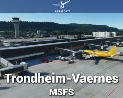 Airport Trondheim-Vaernes (ENVA) Scenery