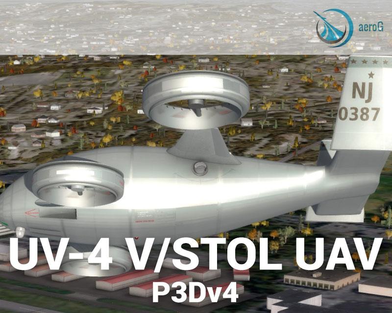 UV-4 eVTOL UAV for P3Dv4