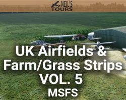 UK Airfields & Farm/Grass Strips Scenery Vol. 5 for MSFS
