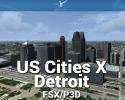 Detroit Scenery US Cities X for FSX/P3D