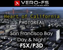 Heart of California: San Francisco Bay Photoreal Scenery for FSX/P3D