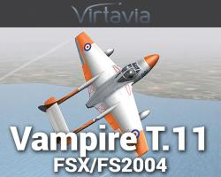de Havilland Vampire T.11 for FSX/FS2004