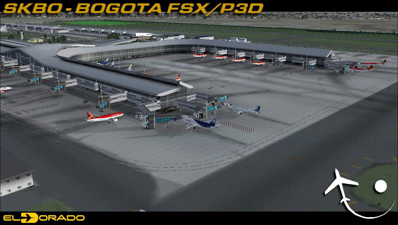 Free El Dorado Int'l Airport (Bogota) SKBO Scenery for FSX/P3D