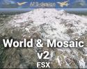 World & Mosaic v2 Global Scenery Enhancement for FSX