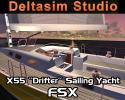 """X55 """"Drifter"""" Sailing Yacht for FSX"""